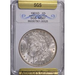 1901-O MORGAN DOLLAR SGS GRADED