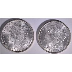 1884 & 1887 MORGAN DOLLARS