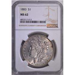 1883 MORGAN DOLLAR NGC MS62
