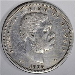 1883 HAWAII HALF DOLLAR, XF