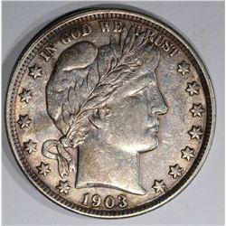 1903 BARBER HALF DOLLAR, AU