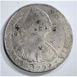 1799 MEXICO 8 REALES chopmarked