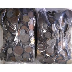 20 POUNDS WELL MIXED FOREIGN COINS