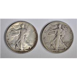 2-1917 WALKING LIBERTY HALF DOLLARS