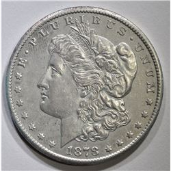 1878-CC MORGAN DOLLAR, AU marks on rev