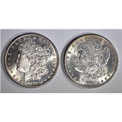 1879-S & 1884-O CH BU MORGAN DOLLARS