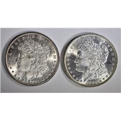 1881 & 1885-O CH BU MORGAN DOLLARS