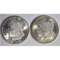 1882-S & 1883-O CH BU MORGAN DOLLARS