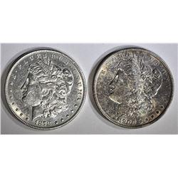 1878-S AU/BU & 1900 CH BU MORGAN DOLLARS