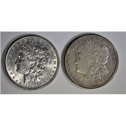 1902 & 21-S AU/BU MORGAN DOLLARS