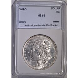 1884-O MORGAN DOLLAR  NNC GEM BU