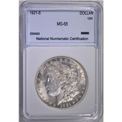 1921-S MORGAN DOLLAR  NNC GEM BU