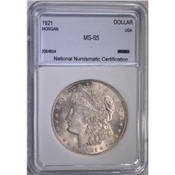 1921 MORGAN DOLLAR  NNC GEM BUF