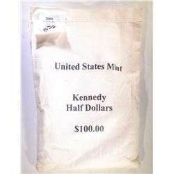 MINT SEWN BAG OF 2009 KENNEDY HALF DOLLARS