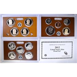 2012 U.S. PROOF SET IN ORIGINAL PACKAGING