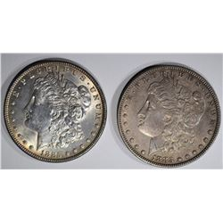 1883 AU & 1885 AU MORGAN DOLLARS
