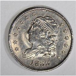 1833 CAPPED BUST HALF DIME  AU+