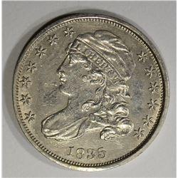 1835 CAPPED BUST DIME  AU