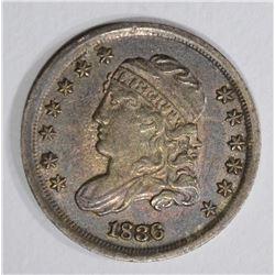 1836 CAPPED BUST HALF DIME  AU