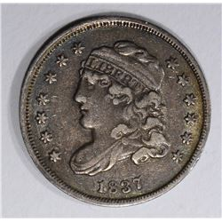 1837 CAPPED BUST HALF DIME  XF+