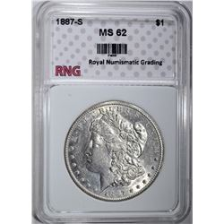 1887-S MORGAN DOLLAR RNG CH BU