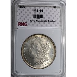 1896 MORGAN DOLLAR RNG SUPERB GEM