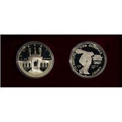 1983 & 84 PROOF OLYMPIC COMMEM DOLLAR SET