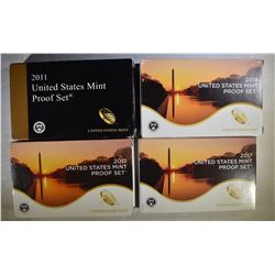 4 U. S. MINT PROOF SETS