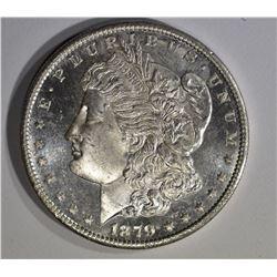 1879-S MORGAN DOLLAR, CH BU PL