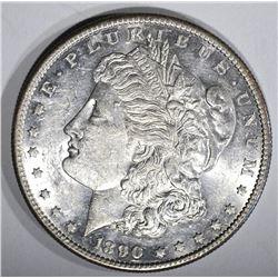 1890-S MORGAN DOLLAR, CH BU+