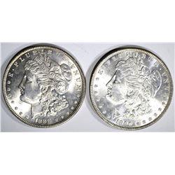 1888 & 1890 MORGAN DOLLARS CH BU