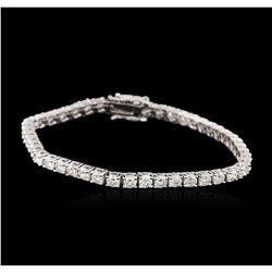 14KT White Gold 5.52 ctw Diamond Tennis Bracelet