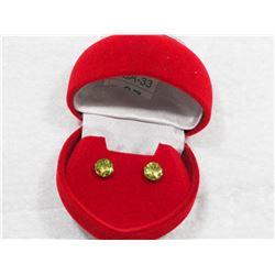 14KTYellow Gold Genuine Peridot Earrings - Retail $200