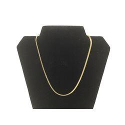 14KT G.P Herringbone Necklace
