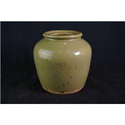 An Early 20th century Celadon-Glazed Pottery Jar