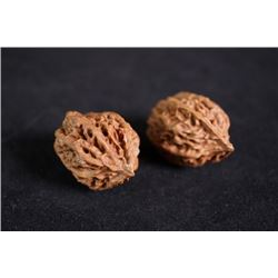 A pair of Two Walnuts in Chicken Heart Shape