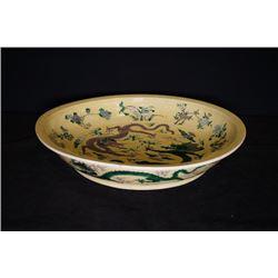 """""""Da Qing Kang Xi Nian Zhi"""" Susancai Dragon Plate."""
