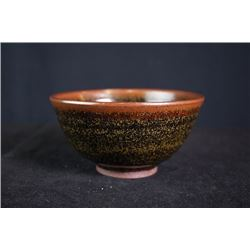 A big buckwheat-glazed tea bowl.