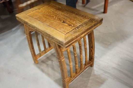 A Wenge Wood Chinese Zheng Table With A Wenge Wood Stool