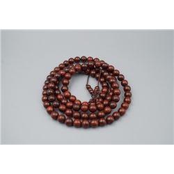 Pterocarpus Santalinus Red Rosewood Beads Buddhsim Necklace, 108 beadsxiao ye zi tan