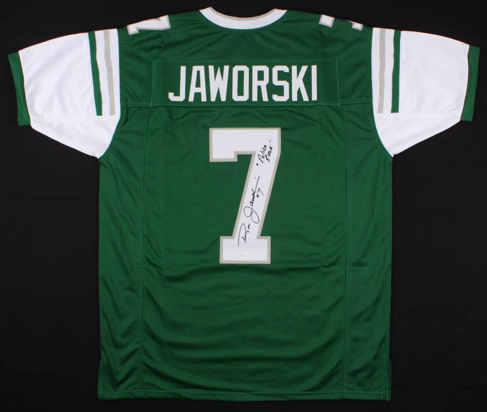 outlet store 7d022 61374 Ron Jaworski Signed Eagles Throwback Jersey