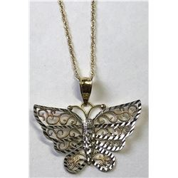 10kt. GOLD BUTTERFLY NECKLACE