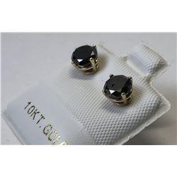 10kt. GOLD BLACK DIAMOND (1.40ct) EARRINGS