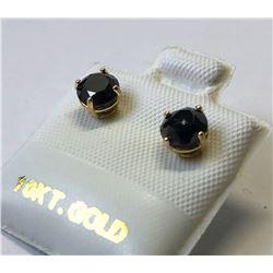 10kt GOLD BLACK DIAMOND (1.25ct) EARRINGS