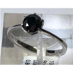 10kt WHITE GOLD BLACK DIAMOND (0.85ct) RING
