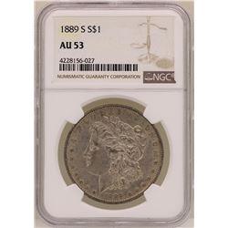 1889-S $1 Morgan Silver Dollar Coin NGC AU53