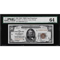 1929 $50 Federal Reserve Bank Note San Francisco Fr.1880-L PMG Choice Uncirculat