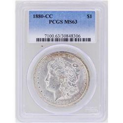 1880-CC $1 Morgan Silver Dollar Coin PCGS MS63
