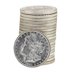 Roll of (20) 1881-O $1 Brilliant Uncirculated Morgan Silver Dollar Coins