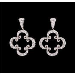 18KT White Gold Ladies 0.70 ctw Diamond Earrings